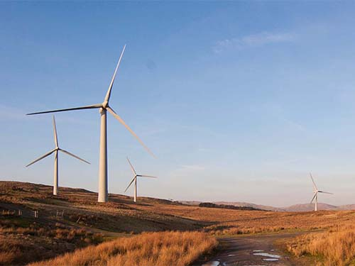 Picture of wind turbines on a moor